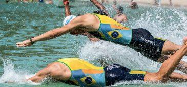 Sergio Santos e Marco La Porta analisaram os favoritos no triathlon Rio2016 e a participação dos brasileiros nos jogos