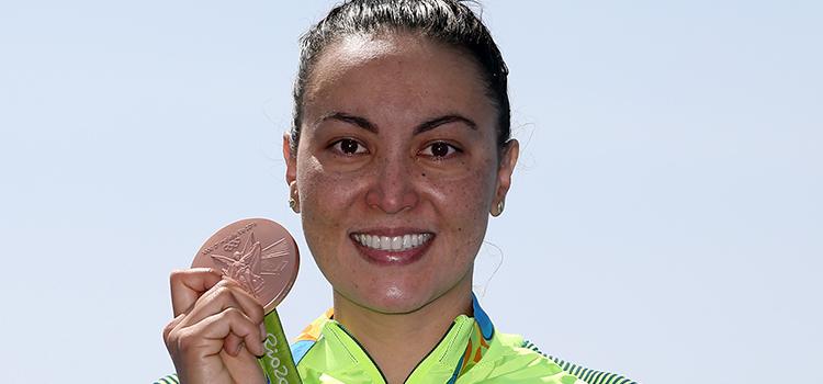 Maratona aquática: Poliana leva o bronze