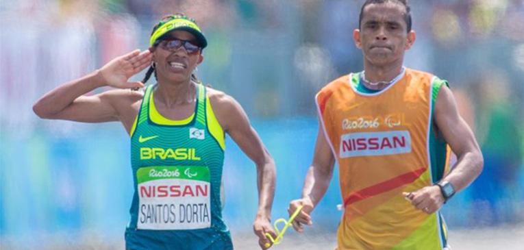 Brasileira: bronze na maratona paraolimpíca