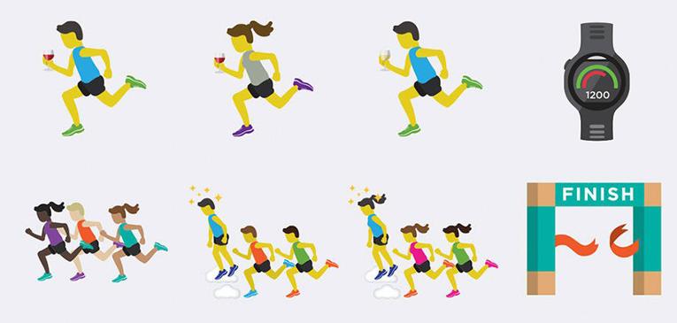 Como usar emojis de corrida no seu celular