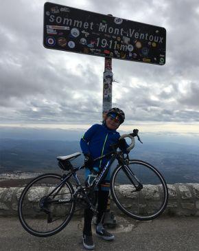 Alfie no cume do Mont Ventoux/ Arquivo pessoal