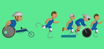 Campanha para incluir emojis de atletas com deficiência