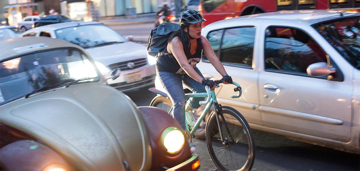 Como a poluição afeta o ciclista nas ruas