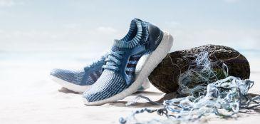 Parceria Adidas e Parley para produzir tênis de corrida com resíduos plásticos dos oceanos