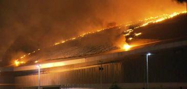 Incêndio atinge velódromo olímpico