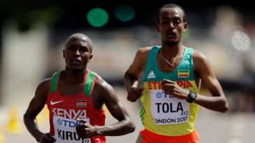Kirui e Chelimo levam o ouro nas maratonas do Mundial de Londres