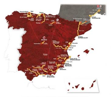 Mapa Vuelta a España 2017