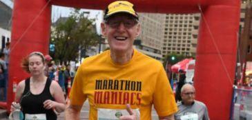 Ele começou a correr aos 68 anos e já disputou 100 maratonas na vida