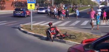 Queda de Van Garderen na Vuelta 2017