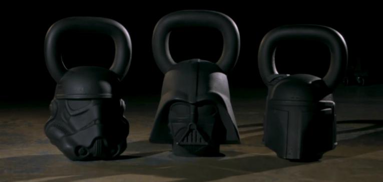 Acessórios fitness do Star Wars