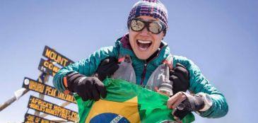 Fernanda Maciel quebra recorde na montanha mais alta da África