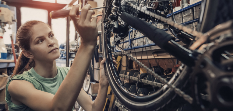 As diferentes rodas de bicicleta