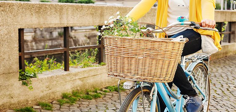 Cabe de tudo nestas cestinhas de bicicleta, escolha a sua
