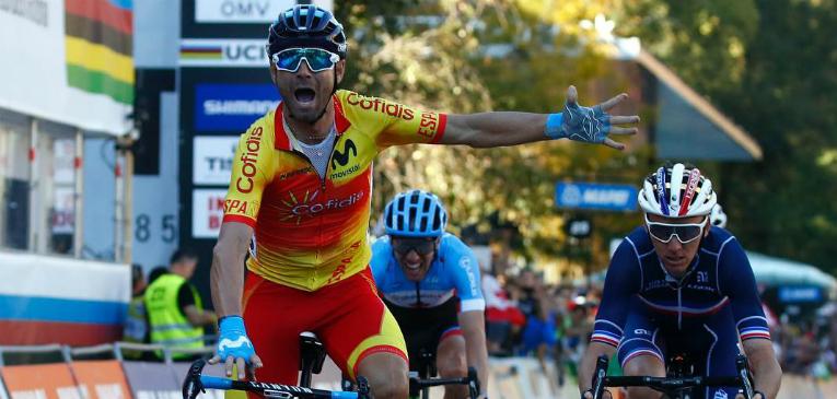 Valverde conquista o Mundial de estrada
