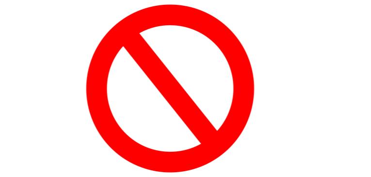 Símbolo de bloqueio