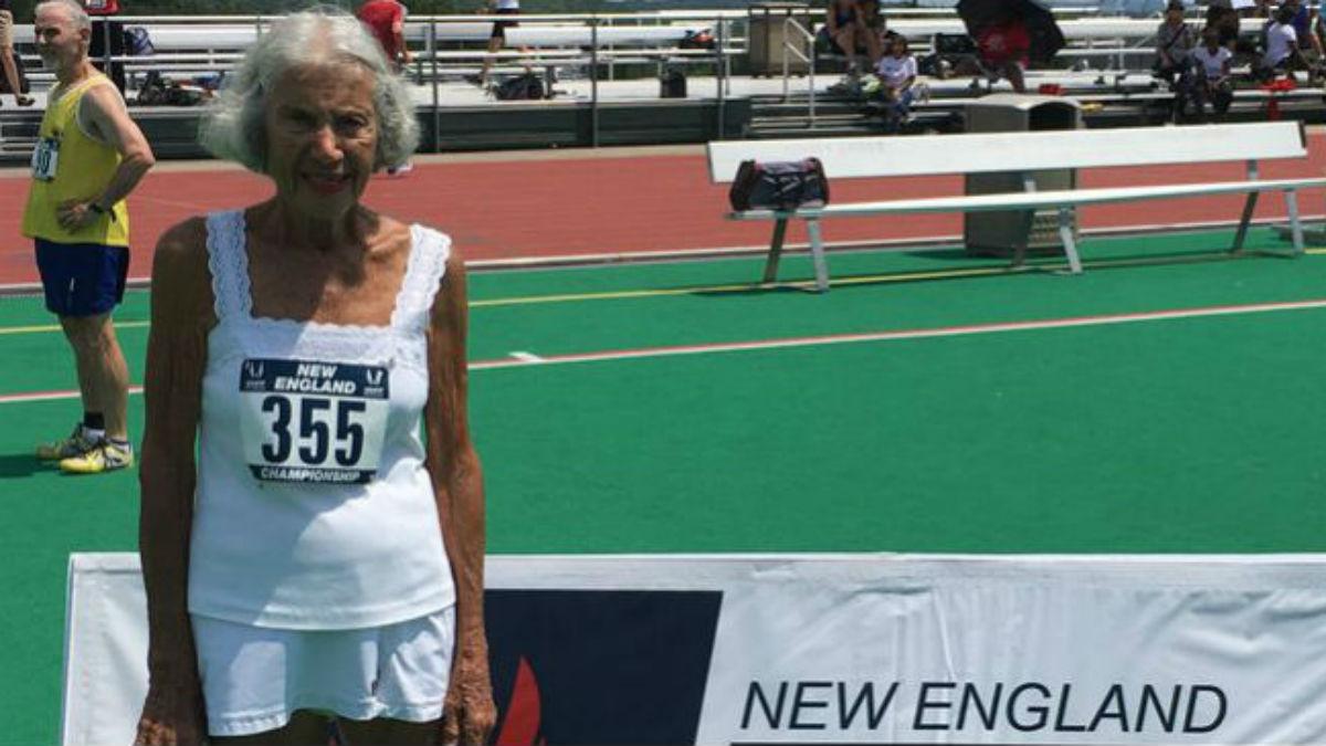 Corredora de 91 anos, Diane Hoffman