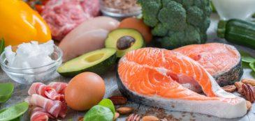 Legumes, verduras, frutas e carnes