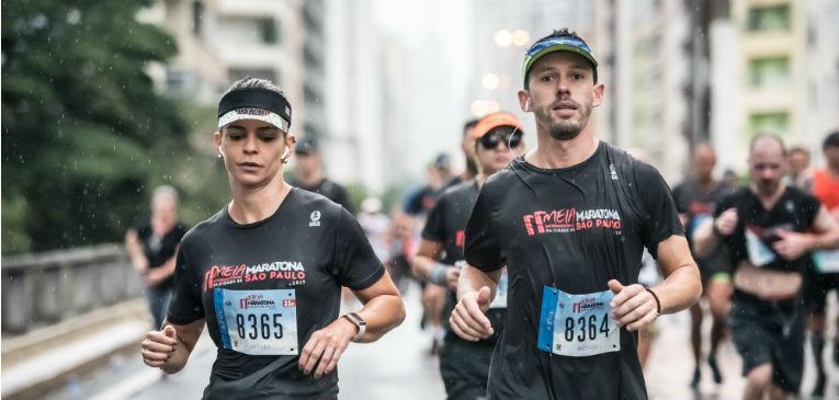 Atletas correndo a Meia Internacional