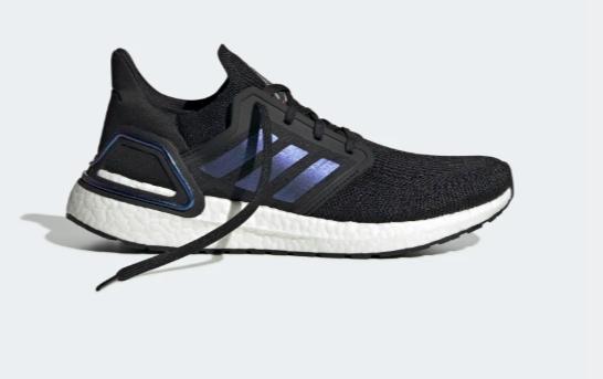 Ultraboost preto, azul e branco