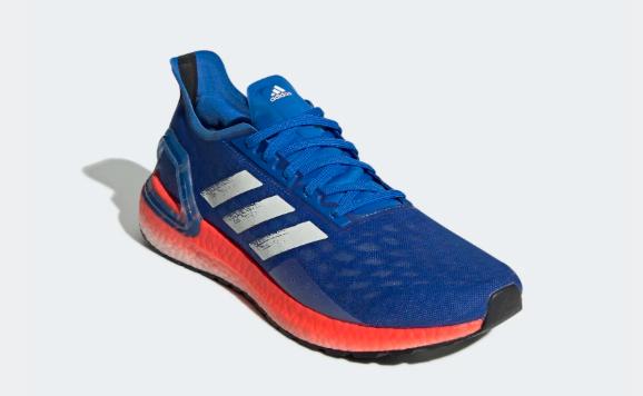Adidas Ultraboost PB azul e laranja