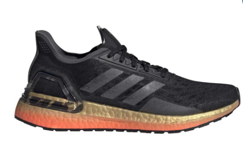 Adidas Ultraboost PB preto, laranja e dourado
