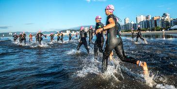troféu brasil triathlon 2020 largada