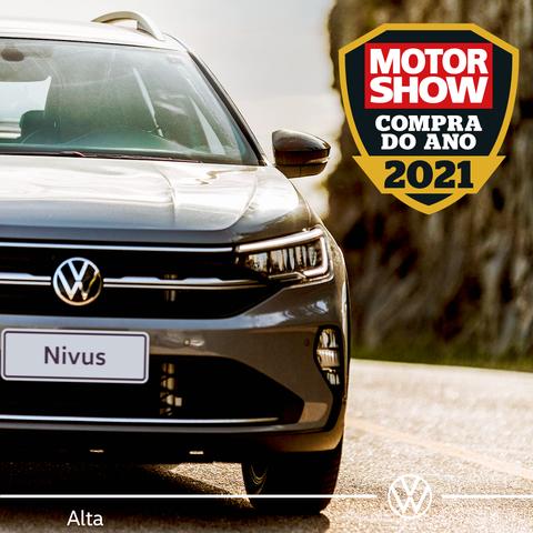 """Nivus é premiado como """"Compra do Ano 2021 da Revista Motor Show"""""""