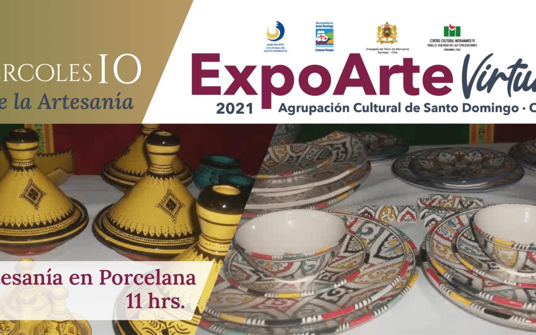 """ARTESANÍA: """"Artesanía en Porcelana"""" – Miércoles 10 de Febrero 11:00Hrs."""
