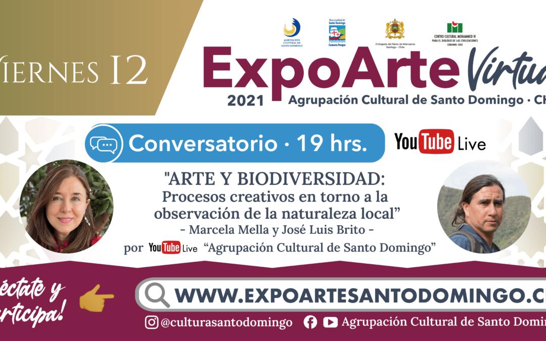 """CONVERSATORIO: """"ARTE Y BIODIVERSIDAD: Procesos creativos en torno a la observación de la naturaleza local"""" Marcela Mella – Viernes 12 de Febrero 19:00Hrs."""