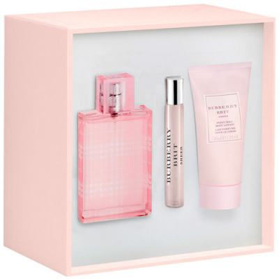 Imagem 1 do produto Brit Sheer Burberry - Feminino - Eau de Toilette - Perfume + Miniatura + Loção Corporal - Kit