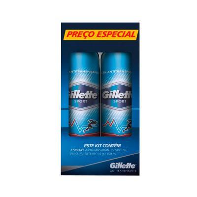 Imagem 1 do produto Kit Gillette Desodorante Aerosol Sport Pressure Defense 93g - 2 Unidades