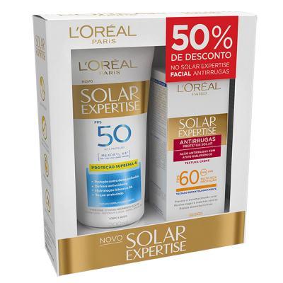 Imagem 1 do produto Kit L'Oréal Paris Solar Expertise Supreme Protect 4 FPS 50 + Solar Expertise Antirrugas FPS 60 - Kit