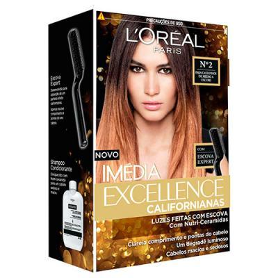 Tintura para Cabelos L'oréal Paris Imédia Excellence Californianas - 2 - Castanhos de médio a escuro
