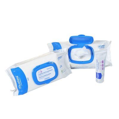 Imagem 1 do produto Kit Mustela Troca de Fralda 150 Lenços Umedecidos + Pomada Assadura 123 55g