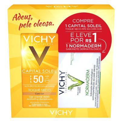 Imagem 1 do produto Capital Solei Toque Seco FPS 50 com Cor + Normadem Vichy - Kit - Kit
