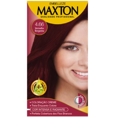Imagem 2 do produto Kit Maxton Tintura Prático 4.66 Vermelho Borgonha