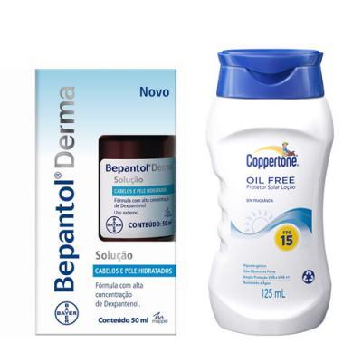 Bepantol Derma Solução Bayer 50ml + Protetor Solar Coppertone Oil Free FPS 15 125ml