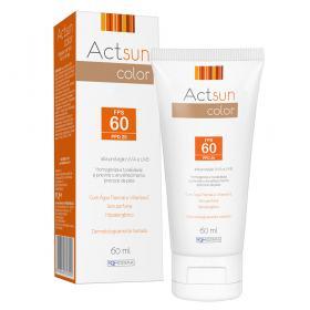 Protetor Solar Facial com Cor de Base Fps60 Actsun Color - Protetor Solar - Universal