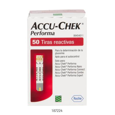 Tiras Accu-Chek Performa Roche C/ 50 Unidades