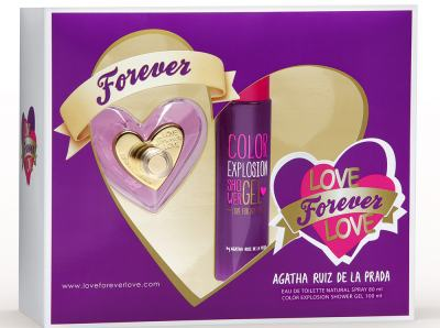 Imagem 1 do produto Kit Love Forever Love De Agatha Ruiz De La Prada Eau De Toilette Feminino - 80 ml + Shower Gel 100 ml kit
