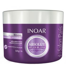 Inoar Absolut Speed Blond - Máscara Desamareladora - 500g