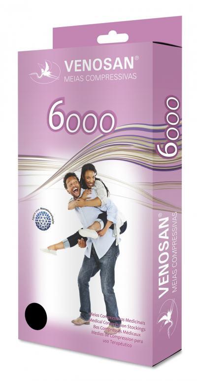 Imagem 2 do produto Meia Coxa AGH 30-40 mmHg 6000 Venosan - PONTEIRA ABERTA BEGE G