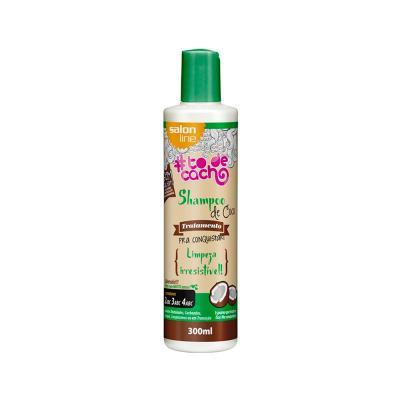 Shampoo De Coco Salon Line Tratamento Cosmético Pra Conquistar Limpeza Irresistível 300ml