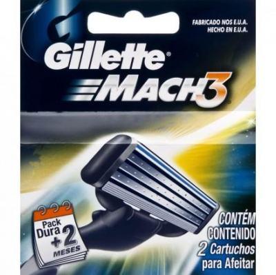 Carga para Barbeador Gillette Mach3 2 unidades