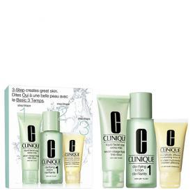 Kit Sabonete Liquido + Loção Clareadora 1 + Loção Hidratante Clinique Intro System Skin Tipo 1 - Kit