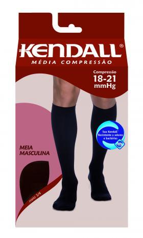 MEIA PANTURRILHA MASCULINA 18-21 MEDIA KENDALL - PRETO PONTEIRA FECHADA G