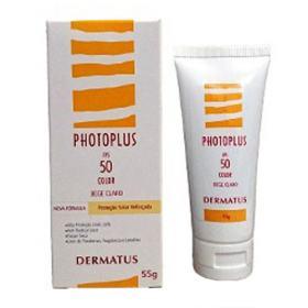 Photoplus Base Fotoprotetora FPS50 Dermatus - Base Facial Corretiva - Bege Claro