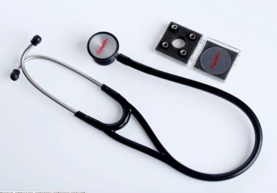 Kit Esteto Cardiológico Preto com Aparelho de Pressão Preto Premium