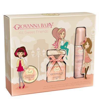 Imagem 1 do produto Kit Sweet Friends Peach Giovanna Baby - Perfume 20ml + Desodorante 40ml + Lip Balm 6g - Kit
