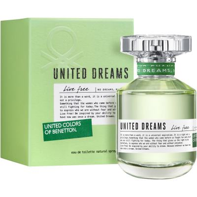 United Dreams Live Free by Benetton Feminino Eau de Toilette - 50ml